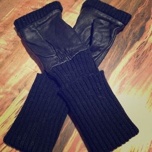 Free People Faux Leather Fingerless Gloves